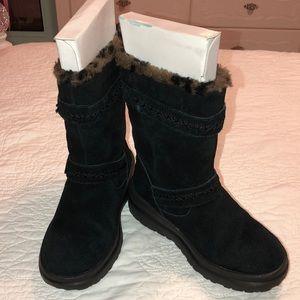 UGG (3)ILove UGG W IHeart  Moto black boots GUC❤️